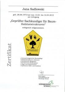 Zertifikat Baumgutachten